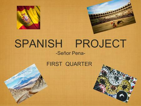 SPANISH PROJECT -Señor Pena-