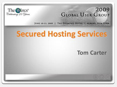 Secured Hosting Services Tom Carter. What is Application Hosting… Increasingly popular practice of outsourcing software applications to 3 rd party providers.