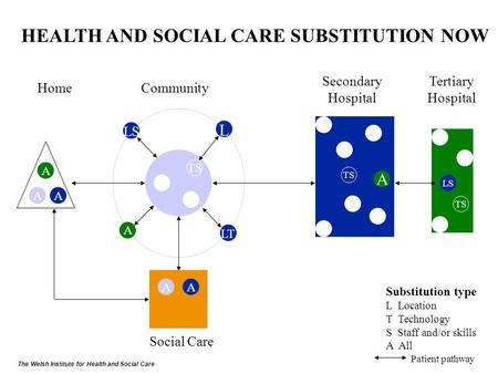 TS A LS A A AA TS A L LS LT HEALTH AND SOCIAL CARE SUBSTITUTION NOW HomeCommunity Secondary Hospital Tertiary Hospital Social Care Substitution type L.