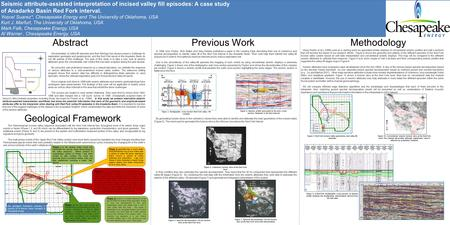 Using Peyton et al's (1998) work as a starting point we generated similar displays of conventional seismic profiles and well x-sections that will become.