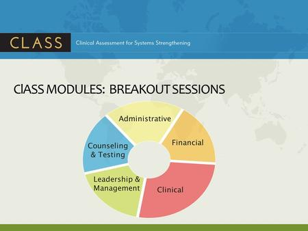 ClASS MODULES: BREAKOUT SESSIONS. ClASS CLINICAL MODULE.