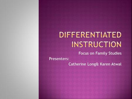 tomlinson model differentiated instruction