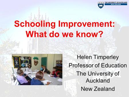 Schooling Improvement: What do we know?