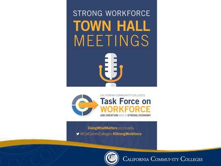 #StrongWorkforce Board of Governors Task Force on Workforce, Job Creation and a Strong Economy Scope Consider strategies and recommend policies and practices.