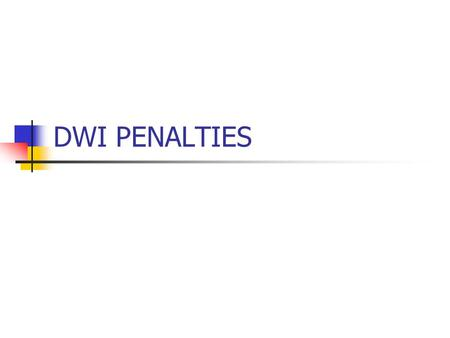 DWI PENALTIES. SUSPENSION License is taken away for a required amount of time, but is returned to you at the end of that time period.