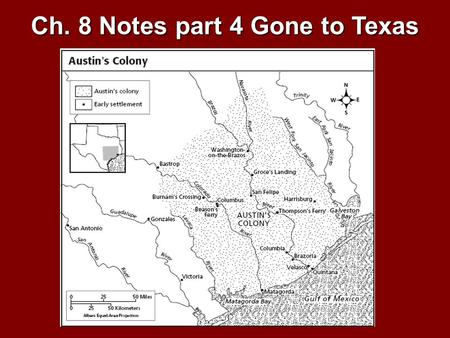 Ch. 8 Notes part 4 Gone to Texas. The Congress also adopted the Mexican Constitution of 1824 which established a states' rights government.The Congress.