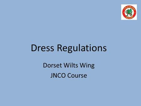 Dorset Wilts Wing JNCO Course