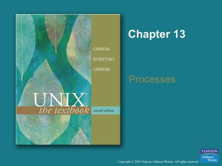 Chapter 13 Processes. Copyright © 2005 Pearson Addison-Wesley. All rights reserved. Objectives To describe the concept of a process, and execution of.