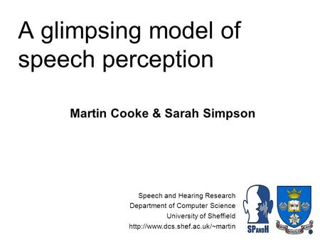 an introduction and an analysis of speech perception Techniques for phonetic and phonemic analysis of speech  introduction to acoustics of speech and  speech acoustics and speech perception.