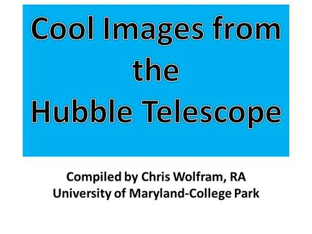 Compiled by Chris Wolfram, RA University of Maryland-College Park.