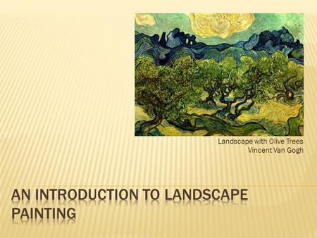 An Introduction to Landscape Painting