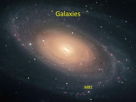 Galaxies Galaxies M81. The Milky Way Galaxy.