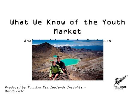 What We Know of the Youth Market