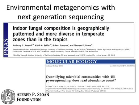 Environmental metagenomics with next generation sequencing.