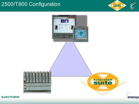 AB C EUROTHERM 2500/T800 Configuration. AB C EUROTHERM Eurotherm Project Studio User Screen Editor Setpoint Program Editor LINTools ALIN 2500 Profibus/Modbus.