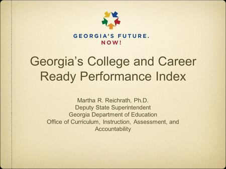 georgia's college and career readiness performance The georgia department of education has released the 2015-2016 college and career ready performance index (ccrpi) scores for the dekalb county school district and its schools.