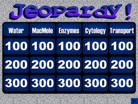 300 200 100 WaterMacMole 300 200 100 Enzymes 300 200 100 Cytology 300 200 100 Transport.