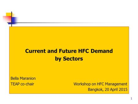Current and Future HFC Demand