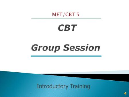 Introductory Training  Intro's & Rapport Building  Review of Progress  Introduction & Teaching of Coping Skill  In-Session Practice Exercise  Assign.