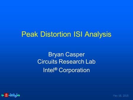 Peak Distortion ISI Analysis