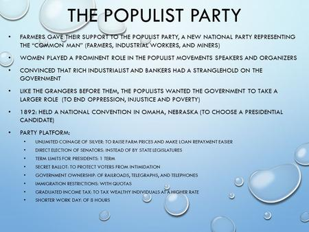 Populist party platform 1892 essay