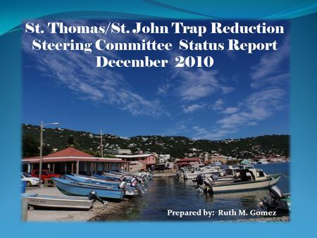Prepared by: Ruth M. Gomez St. Thomas/St. John Trap Reduction Steering Committee Status Report December 2010 Prepared by: Ruth M. Gomez.