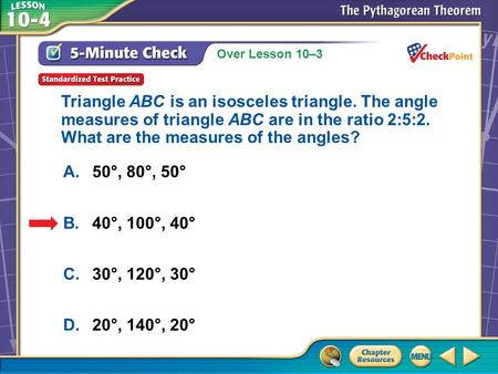 Triangle ABC is an isosceles triangle