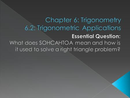  Old stuff will be used in this section › Triangle Sum Theorem  The sum of the measures of the angles in a triangle is 180° › Pythagorean Theorem 
