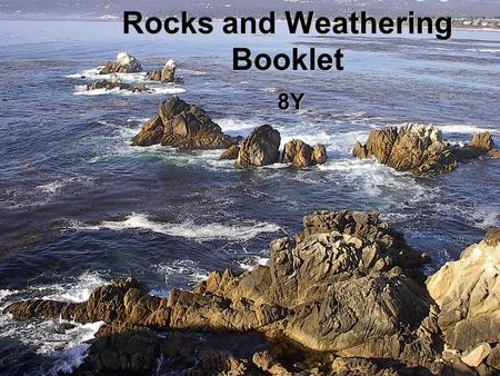 Rocks and Weathering Booklet