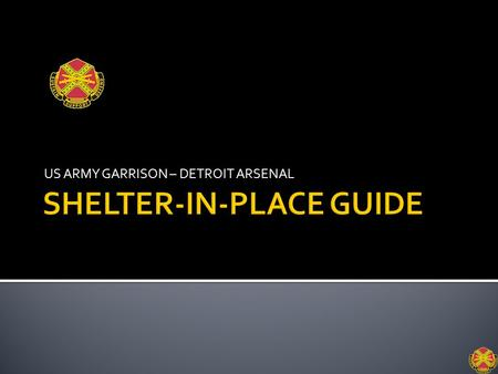 SHELTER-IN-PLACE GUIDE
