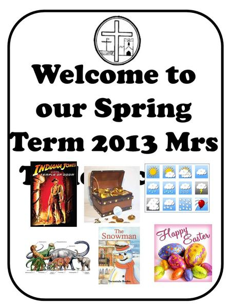 Welcome to our Spring Term 2013 Mrs Taylors class.