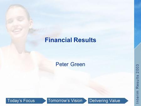 Financial Results Peter Green. Performance Feb 2003Feb 2002% Turnover (R'm)3 436.72 792.423.1 Turnover growth excluding UPD & Price Attack11.2 Headline.