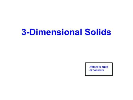 3-Dimensional Solids Return to table of contents.