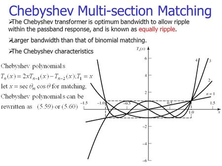 Chebyshev Multi-section Matching