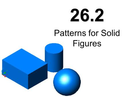 Patterns for Solid Figures