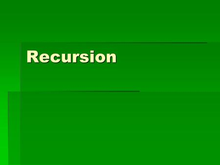 Recursion. n! (n factorial)  The number of ways n objects can be permuted (arranged).  For example, consider 3 things, A, B, and C.  3! = 6 1.ABC 2.ACB.