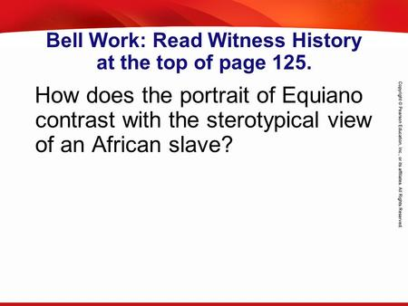 TEKS 8C: Calculate percent composition and empirical and molecular formulas. Bell Work: Read Witness History at the top of page 125. How does the portrait.