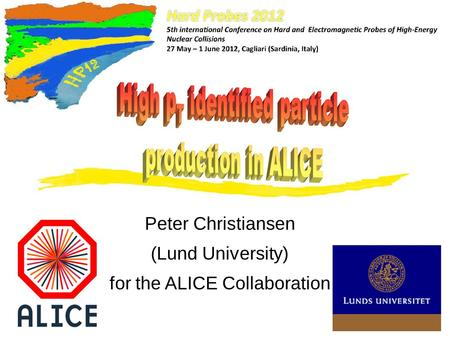 Peter Christiansen (Lund University) for the ALICE Collaboration.