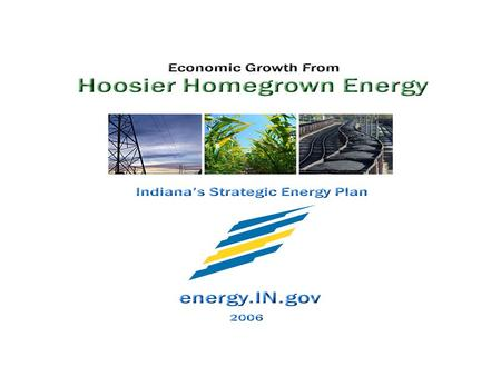 1. 2 The Problem 75% of our energy expenditures leave the state, versus growing jobs, incomes and revenues here at home. Indiana already imports essentially.