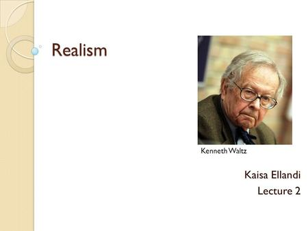 classical realism and ir theory