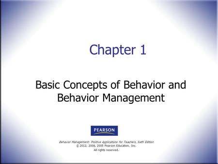 concepts of behavior therapy Behavioral therapy uses behavioral approaches to eliminate of behavior therapy and his work introduced many of the concepts and techniques that are.