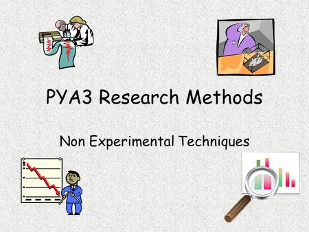 PYA3 Research Methods Non Experimental Techniques.