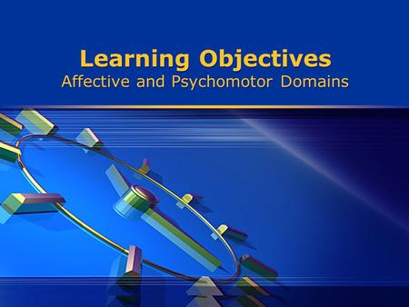 Learning Objectives Affective and Psychomotor Domains.