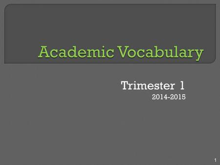 Trimester 1 2014-2015 1. Due to the graphic nature of the following presentation, this may not be appropriate for all audiences. Please use discretion.