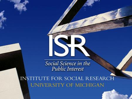 a cooperative agreement between the National Institute on Aging and the Survey Research Center of the Institute for Social Research at the University.