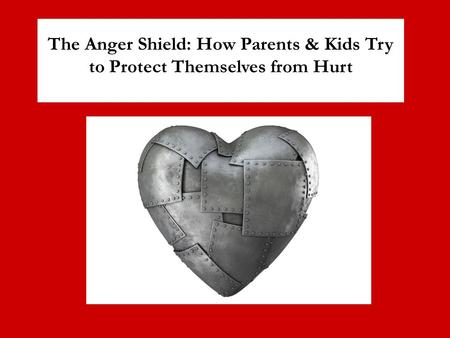 The Anger Shield: How Parents & Kids Try to Protect Themselves from Hurt.