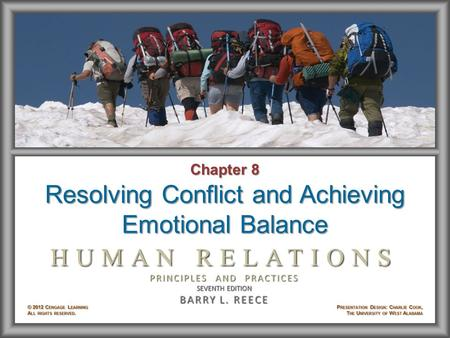 Resolving Conflict and Achieving Emotional Balance