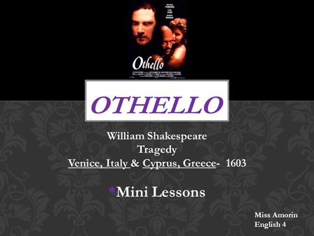 othello background and lang