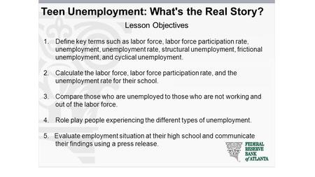 unemployment as a key objective of