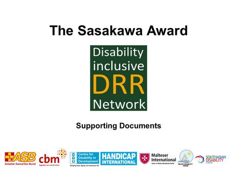 The Sasakawa Award Supporting Documents. World Report on Disability, 2011 15-20% of the world's population are persons with disabilities.
